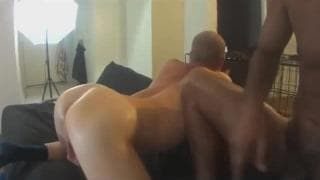 Black cock stuffing a white sissy ass