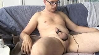 Mature daddy loves to wank off at home