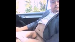 Here we enjoy seeing a mature man masturbate