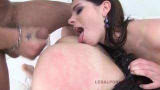 Slut Jessica start with ball inside her ass